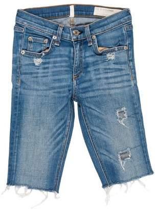 Rag & Bone Distressed Knee-Length Shorts
