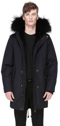 Mackage MORITZ-F FLANNEL PARKA WITH FUR LINED HOOD