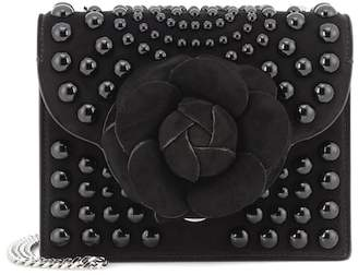 Oscar de la Renta TRO embellished suede shoulder bag