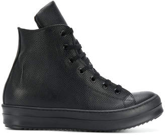 Les Hommes hi-top perforated sneakers