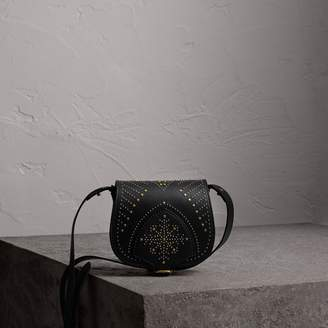 Burberry The Satchel in Riveted Leather, Black