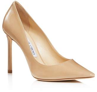 Jimmy Choo Women's Romy 100 Patent Leather High Heel Pointed Toe Pumps