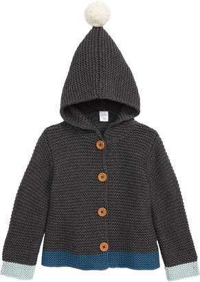 Nordstrom Pompom Knit Hooded Cardigan