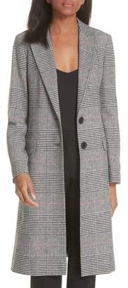 Helene Berman College Check Long Coat