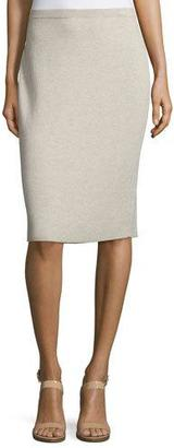 Eileen Fisher Washable Wool Crepe Pencil Skirt, Neutral $198 thestylecure.com