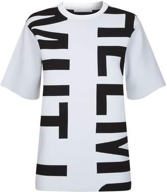 Helmut Lang Logo Graphic Knit T-Shirt