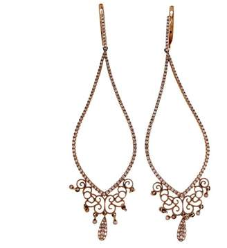14K Rose Gold & 0.85ct Diamond Rare Edition Long Dangle Earrings