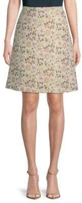 Giambattista Valli Tweed Floral Skirt