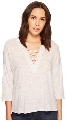 Three Dots Tie Front Tee Women's T Shirt