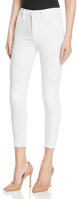 J Brand Alana High Rise Crop Jeans in Blanc $198 thestylecure.com