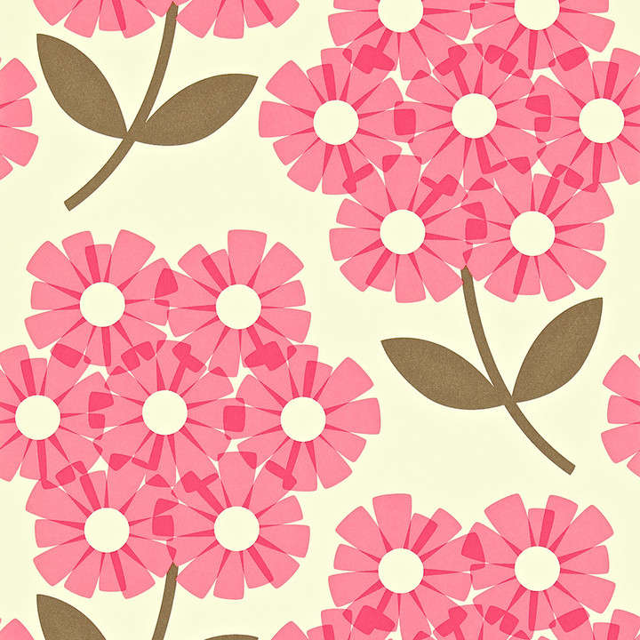 orla kiely giant rhododendron wallpaper 110410 shopstyle. Black Bedroom Furniture Sets. Home Design Ideas