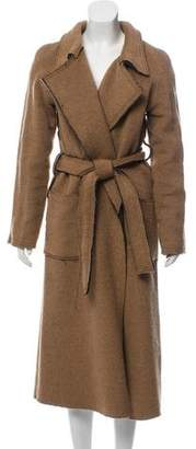 Atelier Twilley Fray-Accented Long Coat