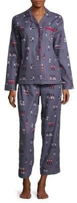 Lord & Taylor Printed Cotton Pajamas