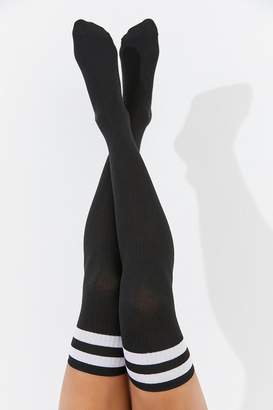 Out From Under Varsity Striped Thigh High Sock