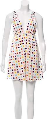 Alice + Olivia Polka Dot Silk Dress