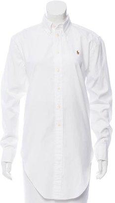 Ralph Lauren Long Sleeve Button-Up Top $95 thestylecure.com