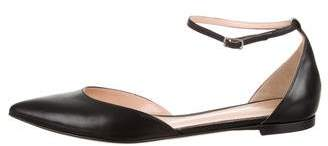 Gianvito Rossi Leather Pointed-Toe Flats