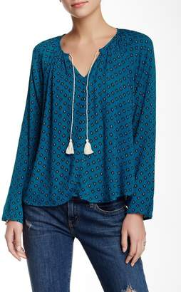 Love Stitch Long Sleeve Printed Blouse