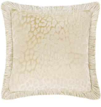 Roberto Cavalli Monogram Cushion - Dove Grey - 40x40cm