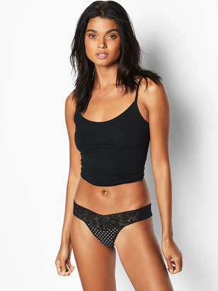 Victoria's Secret Stretch Cotton Lace-waist Thong Panty
