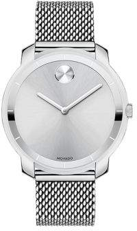 Movado Bold Bold Stainless Steel Mesh Bracelet Watch