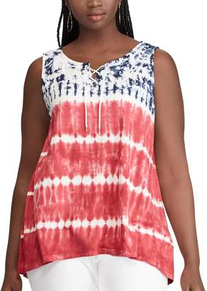 Chaps Plus Size Patriotic Tank Top