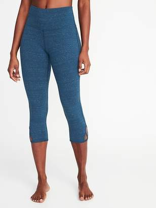 Old Navy High-Rise Scallop-Cutout Yoga Crops for Women