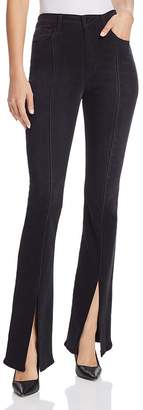 Joe's Jeans Slit-Front Micro Flare Jeans in Olympia