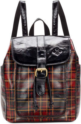 Patricia Nash Aberdeen Tartan Plaid Leather Backpack
