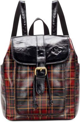 Patricia Nash Aberdeen Tartan Plaid Leather Backpack