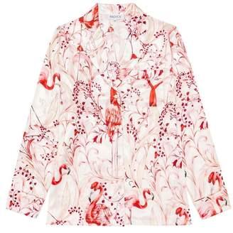 Radice Elisabetha Silk Pyjama In Pink Flamingo - Top