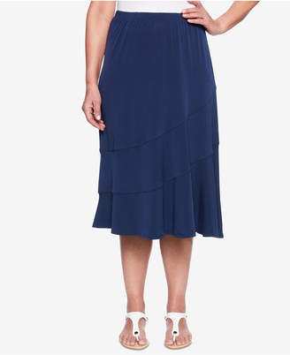 Alfred Dunner Royal Street Tiered A-Line Skirt