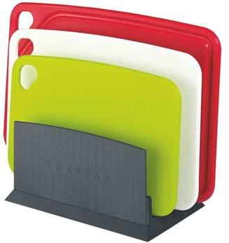 Scanpan 4 Piece Spectrum Cutting Board Set with Stand