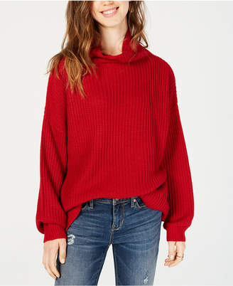 American Rag Juniors' Balloon-Sleeved Turtleneck Sweater
