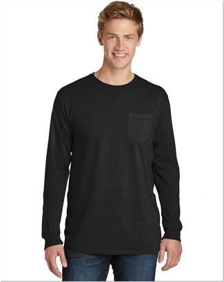 Port & Company Men's Long Sleeves Pocket T-Shirt__