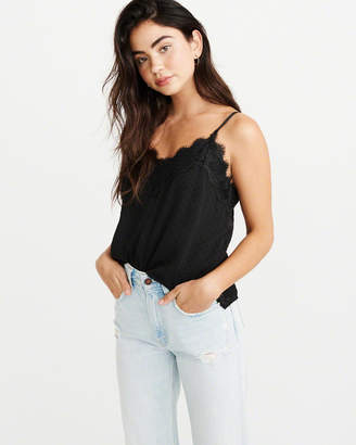 Abercrombie & Fitch Lace-Trim Clipdot Cami