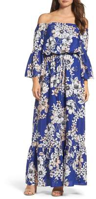 Eliza J Off the Shoulder Floral Maxi Dress (Regular & Petite)