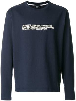 Calvin Klein embroidered sweatshirt
