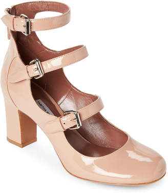 Tabitha Simmons Ginger Triple Buckle Block Heel Pumps