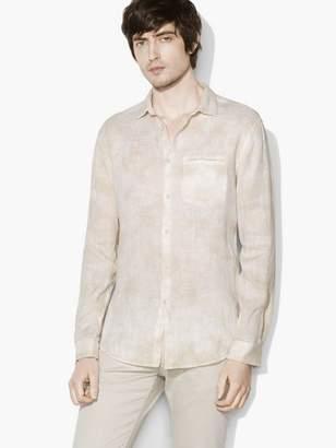 John Varvatos Allover Water-Dye Shirt