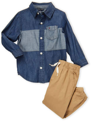 Calvin Klein Jeans Toddler Boys) Two-Piece Flap Pocket Shirt & Pants Set