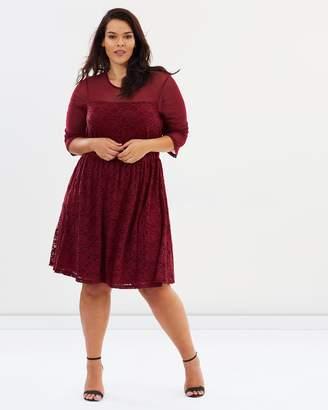 Junarose Lupina 3/4 Sleeve Above Knee Dress