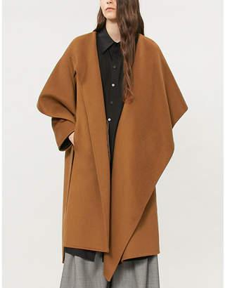 CASASOLA Draped wool wrap coat