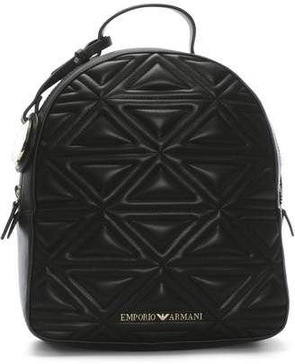 Emporio Armani Zaino Quilted Black Backpack