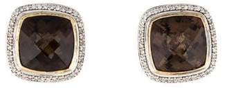 David Yurman Smoky Quartz & Albion Diamond Earclips