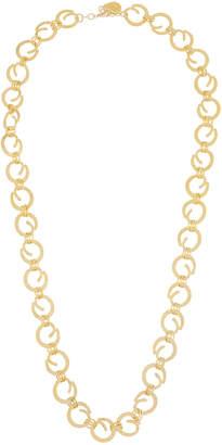 Devon Leigh Long Swirl Chain Necklace
