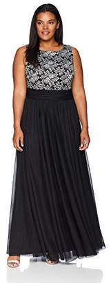 Jessica Howard Women's Plus Size Rushed Waist Gown