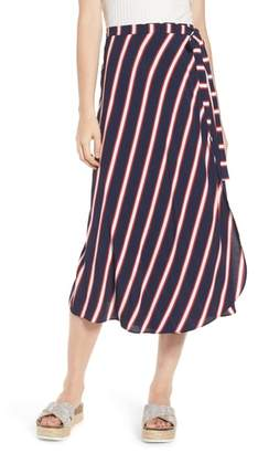 BP Stripe Midi Wrap Skirt