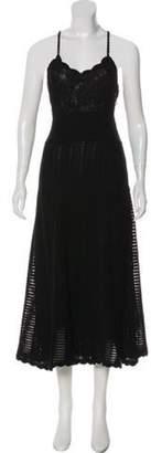Valentino Knit Halter Dress Black Knit Halter Dress
