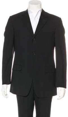 Versace Three-Button Wool Blazer